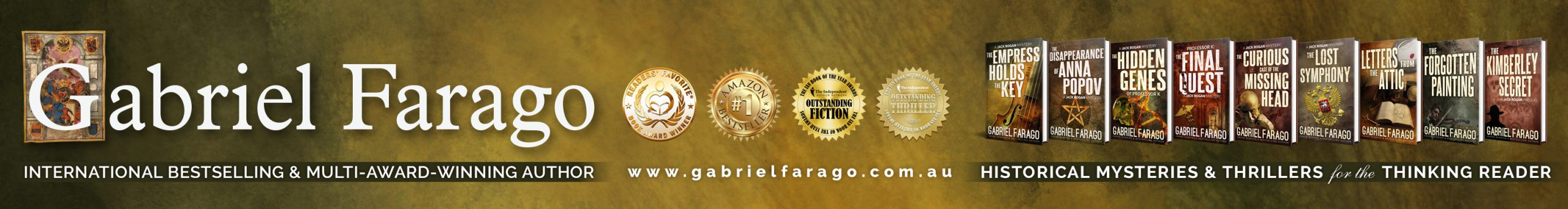 Author Gabriel Farago Official Website